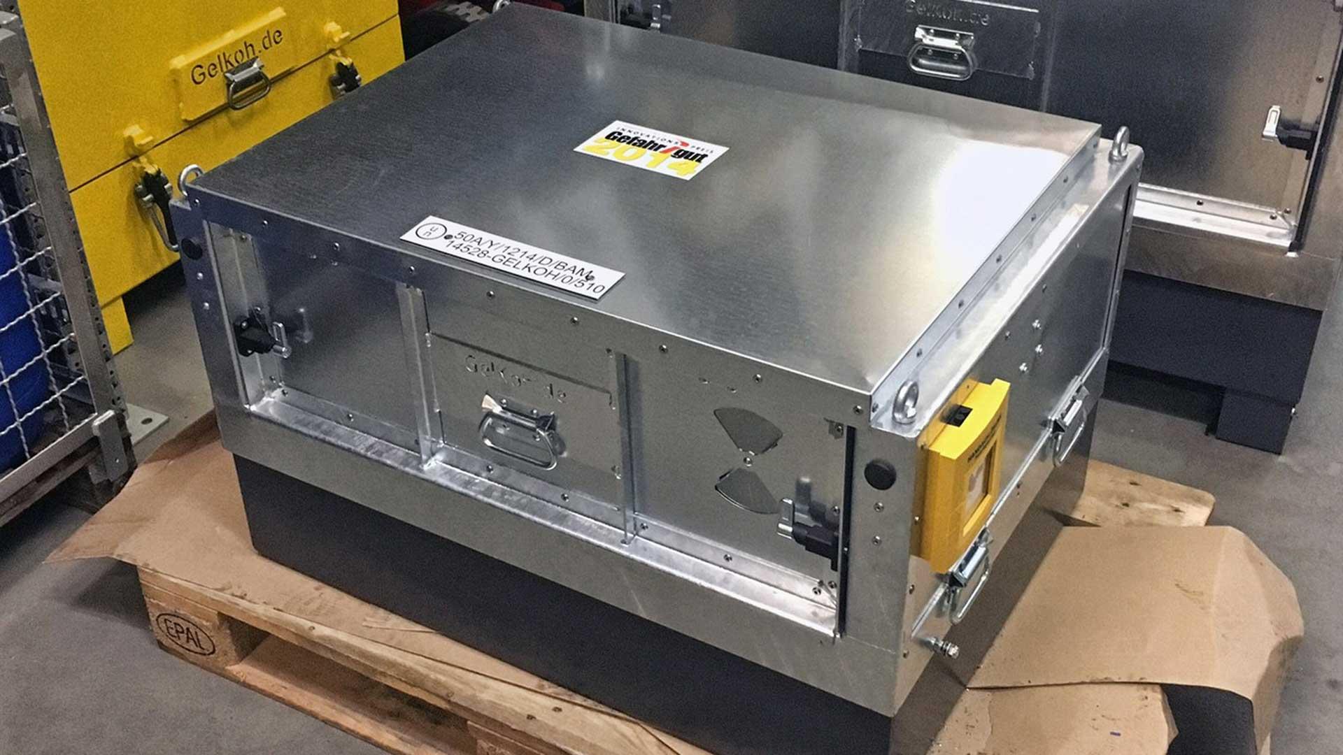 RSL Fire ontwikkeld een blussysteem voor transport van Lithium-Ion Batterijen