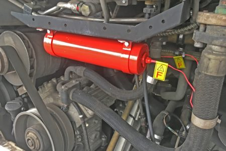 Truck extinguishing system